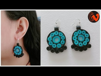 How to Make Quilling Earrings. Paper Quilling Earrings. Design 89
