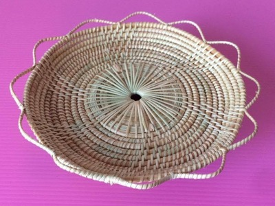 How to Make Rattan Tray | Making Wicker Trays Step by Step | DIY-Paper Crafts