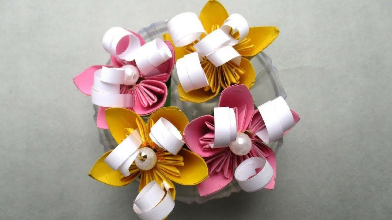 How To Make Small Bouquet Paper Flowers , Full Tutorial By Sugi ...