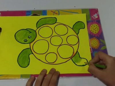 How To Make Turtle With Wood Dust Kids School Activity