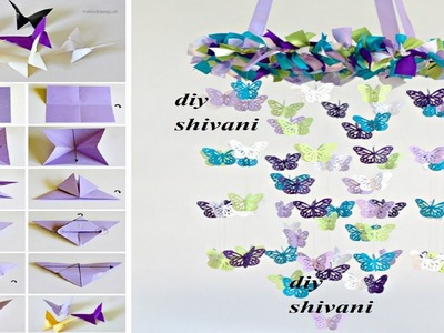 How to make wind chimes out of paper - Make jhumar using paper