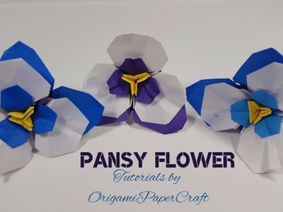How To Paper Fold a Pansy Flower  (Cách Xếp Hoa Pansy)