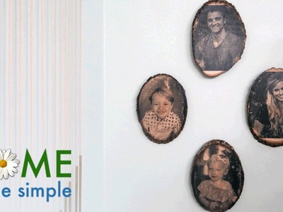 """How to """"Print"""" Pictures onto Wood Slabs for a Rustic Photo Display 