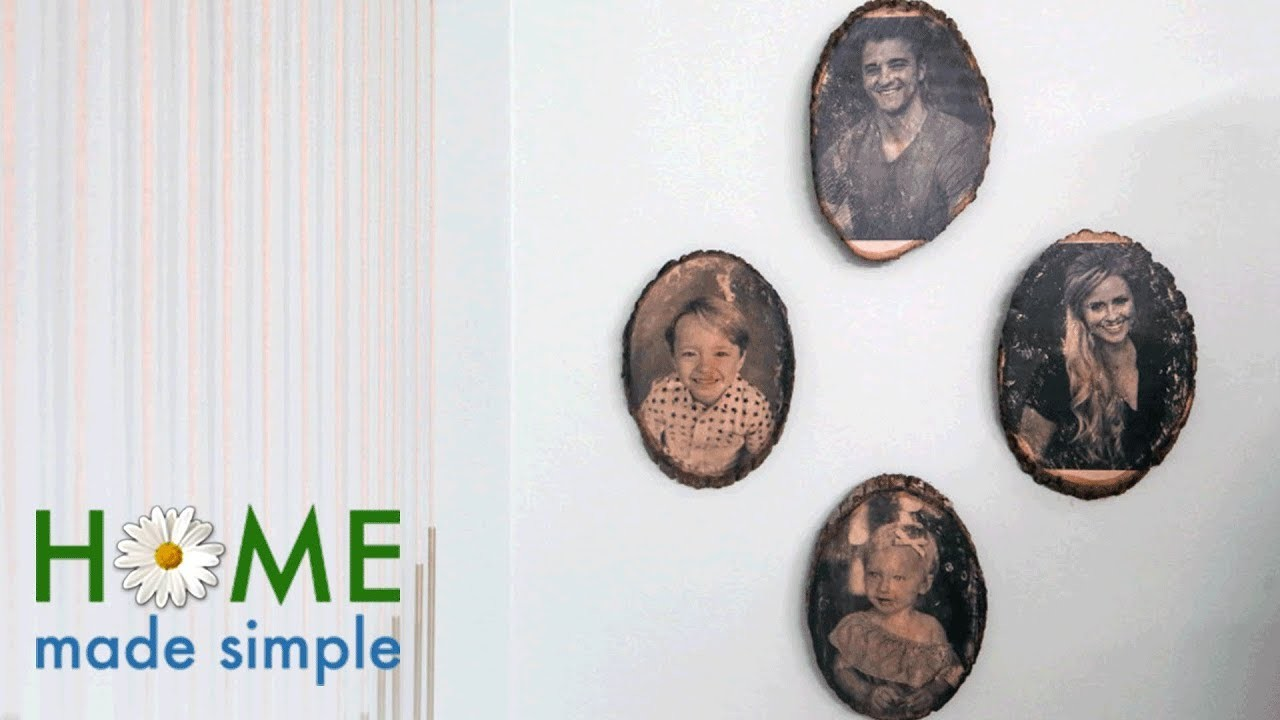 """How to """"Print"""" Pictures onto Wood Slabs for a Rustic Photo Display   Home Made Simple   OWN"""