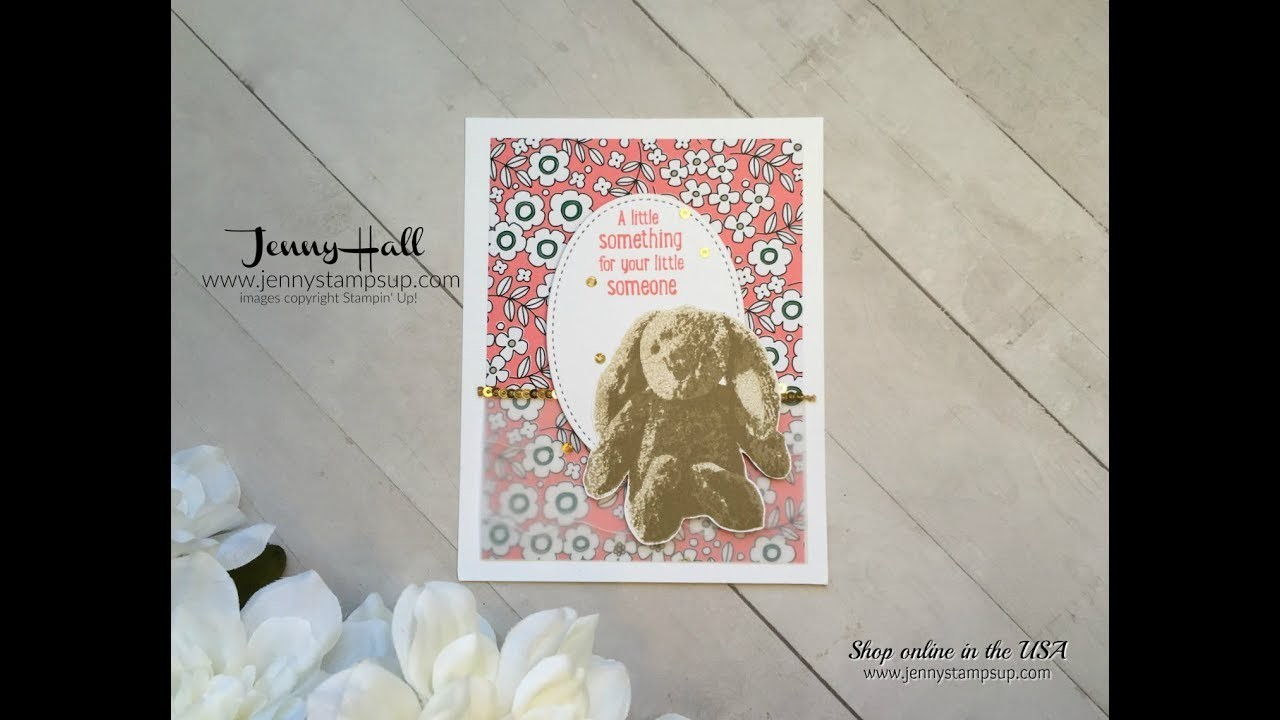 How to stamp Sweet Little Something layering stamp using Stampin Up products with Jenny Hall