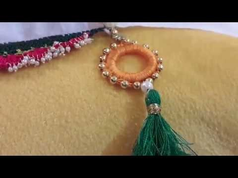 How to use donut ring to make a designer saree tassel.DIY CREATIVE ART AND CRAFT