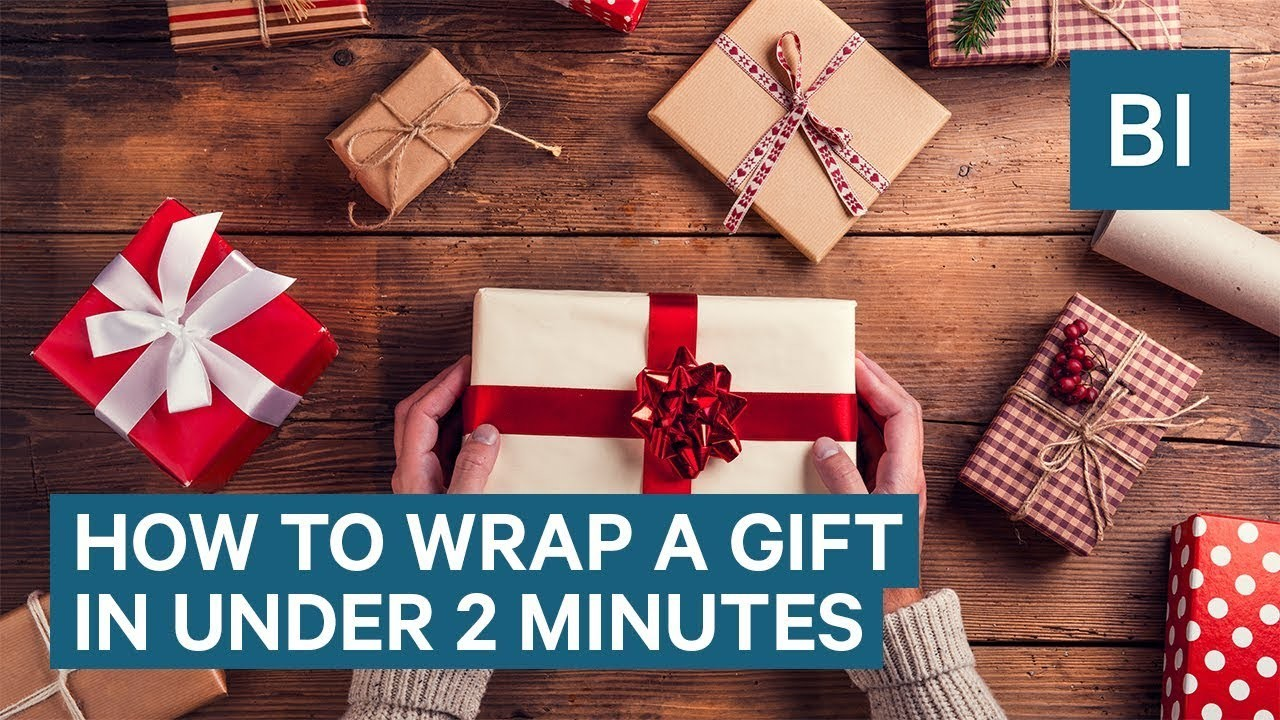 How To Wrap A Gift In Under 2 Minutes