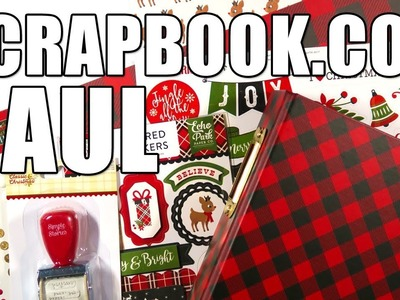 HUGE CHRISTMAS HAUL. I Bought All The Things from Scrapbook.com