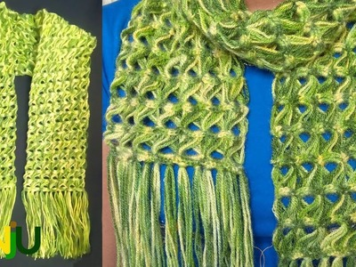 Learn easy step by step crochet scarf pattern | Scarf design of 2018