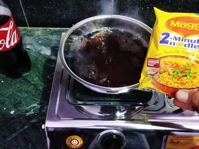 Maggi Noodles vs hot Coca Cola | How to cooked maggi with hot Coca Cola