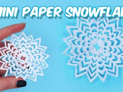 Mini Paper Snowflake DIY. How to make mini&cool Paper Snowflakes