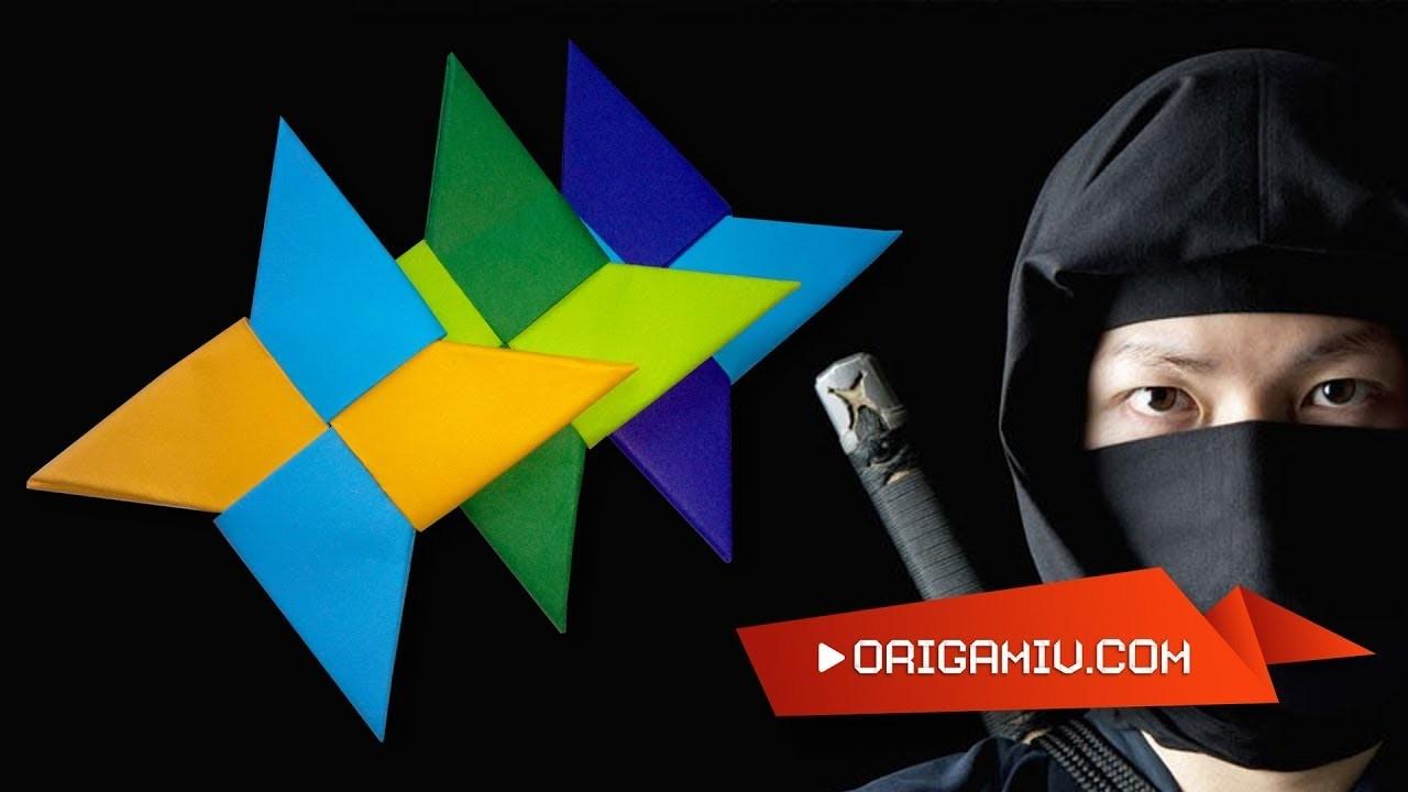 Ninja Star Shuriken - tutorial model paper origami