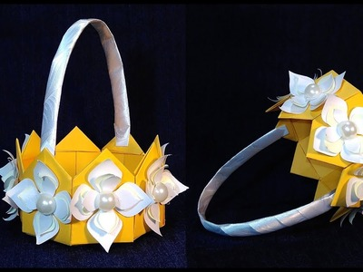 ORIGAMI BASKET . ???? Paper basket  for gifts. Gift wrapping ideas.
