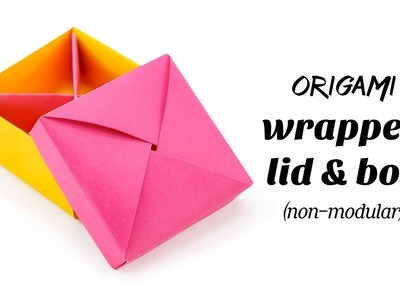 Origami Wrapped Lid (& Box) Non-Modular Tutorial ♥︎ Paper Kawaii