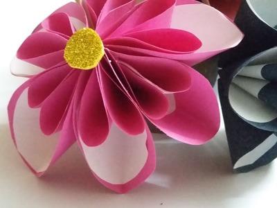 Paper crafts for Home Decoration   DIY Wall decor ideas  Paper flowers