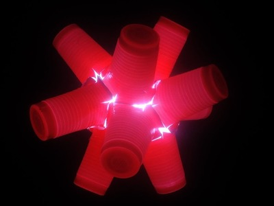 Paper cup lamp DIY   best out of waste project