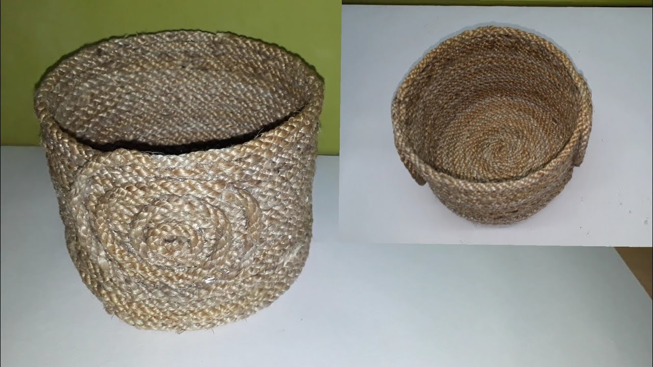 Recycling crafts ideas:How to make Rope Basket.DIY