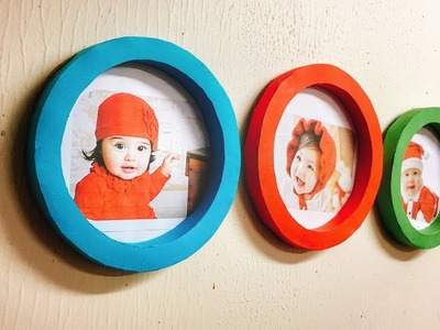 Round Photo Frame out of Paper