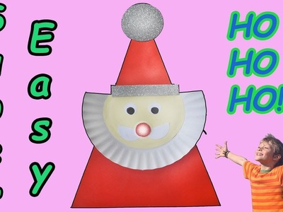 Santa Claus from paper plate -- DIY --For this season ????????????