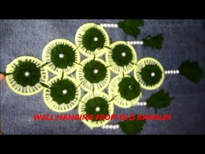Wall Hanging from Old Bangles|how to make wall hanging|Best From Waste ideas