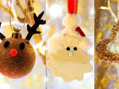 3 DIY Cute Christmas ornaments | Holiday room decor | 2017 Christmas Decorations