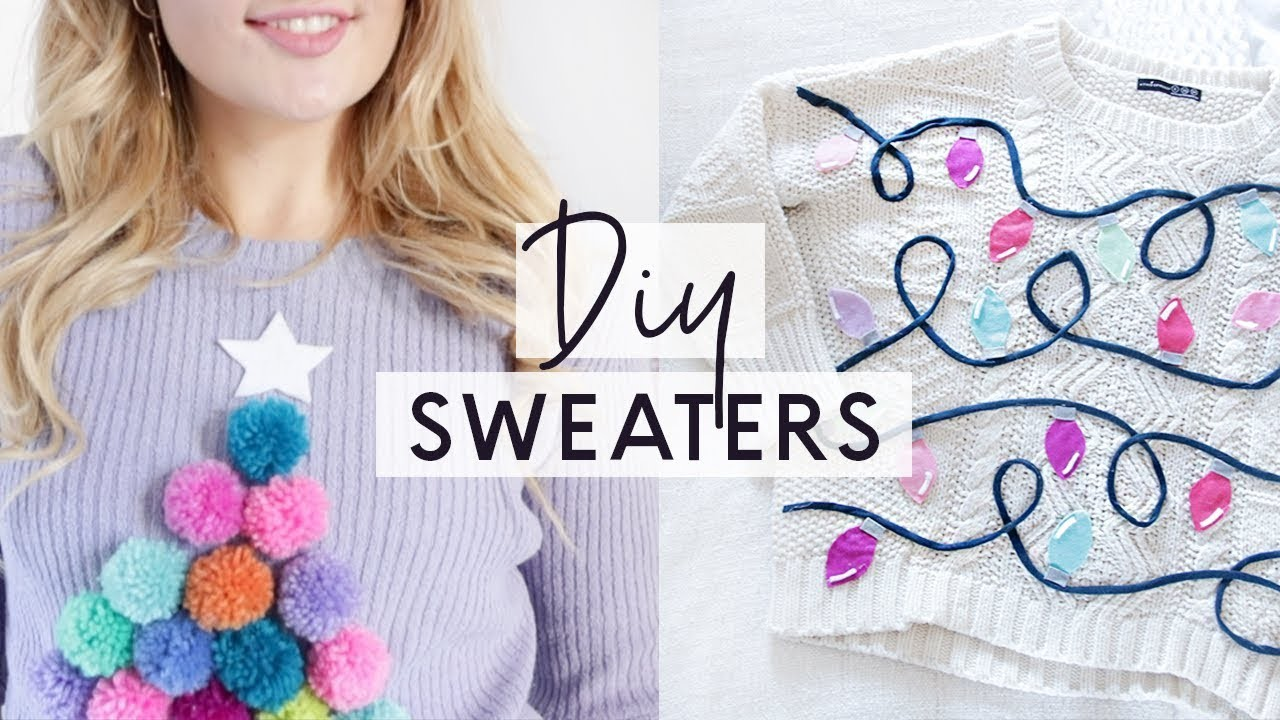 3 DIY Ugly Christmas Sweaters ???? Easy and Cheap Christmas Jumpers