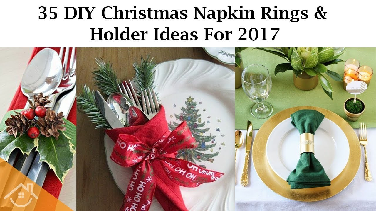 35 DIY Christmas Napkin Rings And Holder Ideas For 2017 - Home&Interior Ideas