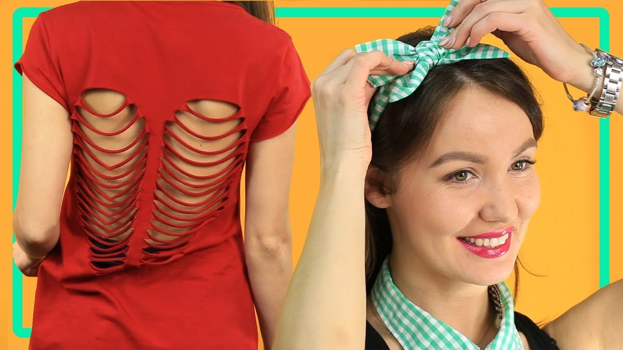 4 cool DIY experiments with clothes. How to create a one-of-a-kind image. Tips and Tricks