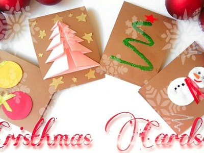 ⛄4 EASY DIY???? Christmas Cards! HANDMADE!⛄