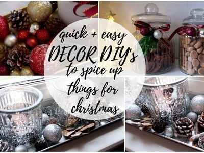 5 EASY CHRISTMAS DECOR DIY'S ♡ USE THINGS YOU ALREADY HAVE!