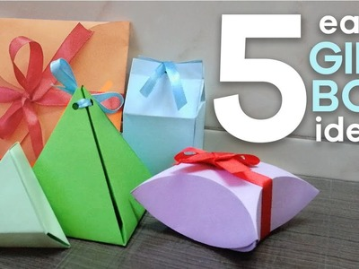 5 easy gift boxes | Origami Gift Boxes | DIY