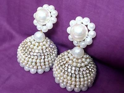 #62 How to Make Pearl Beaded Earrings (Jhumka) || Diy || Jewellery Making