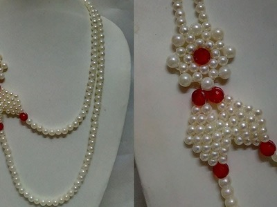 #65 How to Make Pearl Beaded Necklace || Diy || Jewellery Making
