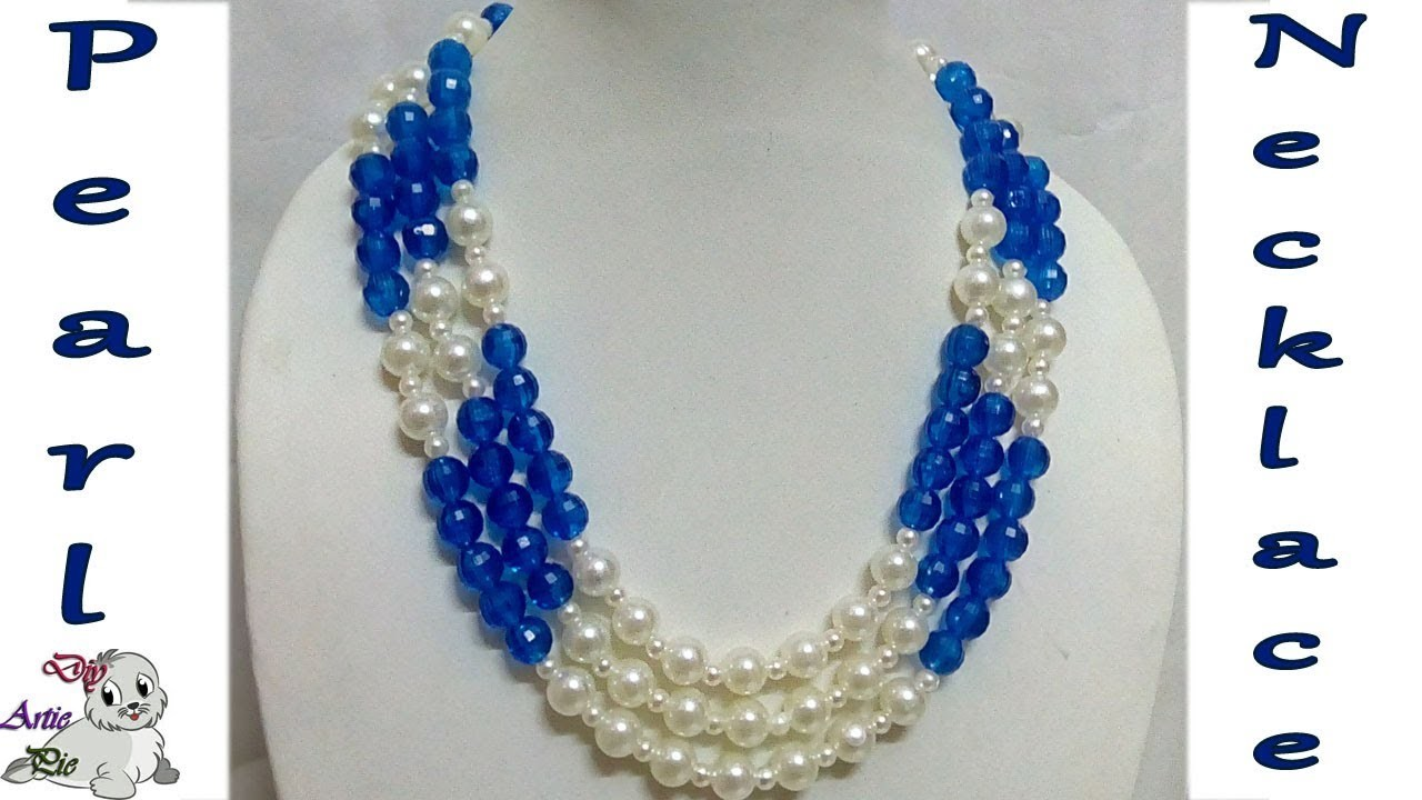 #71 How to Make Pearl Beaded Necklace || Diy || Jewellery Making