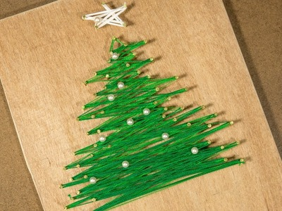 Amazing DIY for Christmas: Decorate Home with String Art