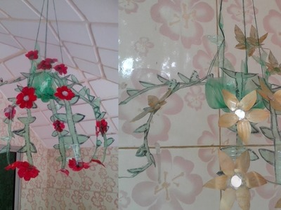 Best out of waste plastic bottle transformed  a lovely showpiece. DIY money plant ideas