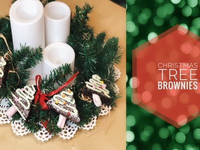 Christmas tree brownies || DIY Christmas treats