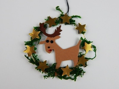 Christmas tree ornament reindeer DIY papercraft Xmas ornament reindeer