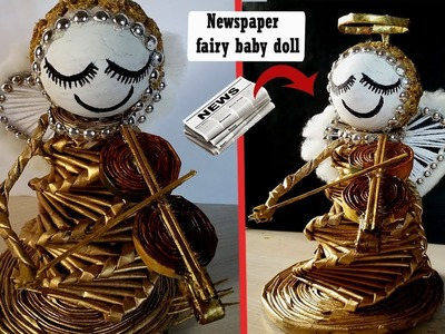 Cute Angel Doll with newspapers | DIY Crafts | Best out of waste | Christmas Decorating Ideas