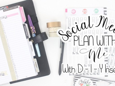 D-I-Y Social Media Inserts Using MAMBI DAILY SHEETS + Plan With Me! | At Home With Quita