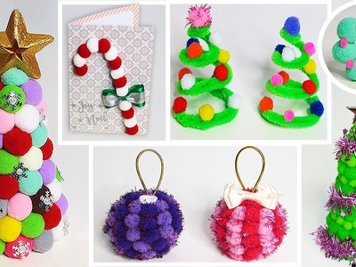 ???????? Decorate your Christmas with Pompoms Easy and Fast Ideas DIY for Christmas ????????