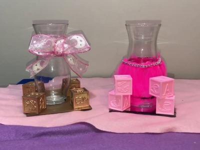 DIY Baby Shower Centerpieces | Vlogmas Day 1(dollar tree edition)
