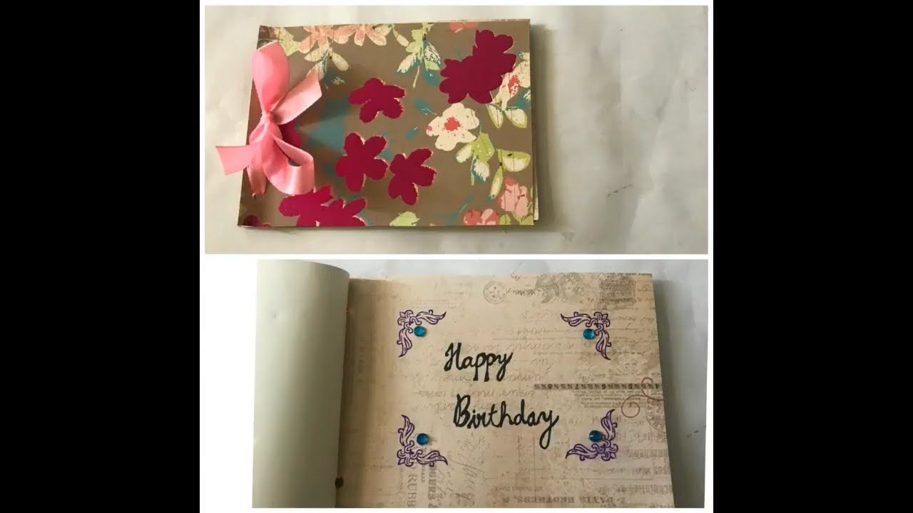 DIY  Birthday Notebook | Quick and Easy.