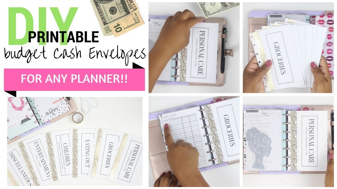DIY CA$H???????? Envelopes for ANY PLANNER!! + Printable PDF | Mini Happy Planner | At Home With Quita