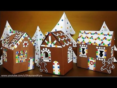 DIY Cardboard House & Trees | Recycled Crafts Ideas | Winter Crafts For Kids