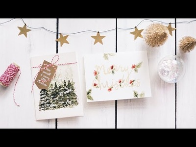 Diy christmas cards + a mini haul