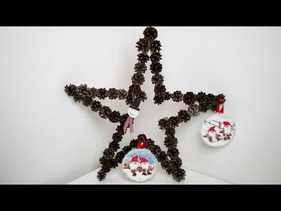 DIY - Christmas decor - 3 easy crafts ideas
