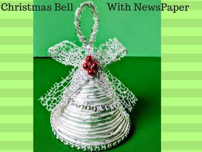 DIY Christmas Decoration Idea | Christmas Bell with Newspaper