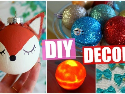 ❄DIY Christmas Decorations! Simple + Cheap! HolidAMY | Day 3❄