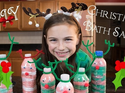 DIY Christmas Gifts for Kids, DIY Christmas Bath Salts, Peppermint Bath Salts